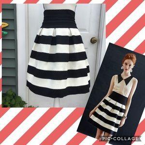 Girls From Savoy Scalloped Stripes Ponte Skirt